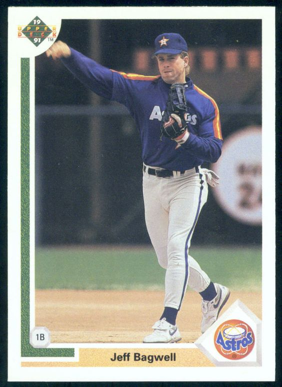 HOUSTON ASTROS 1991 UPPER DECK JEFF BAGWELL ROOKIE NMMT #755 FREE SHIPPING #HoustonAstros