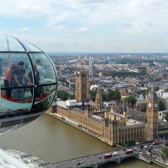The view on Houses of Parliament and Big Ben from the Coca Cola London Eye ... an attraction that is worth every pound ! :-)