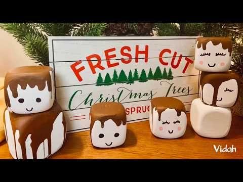 Holiday Crafting With Marshmallows Dice Marshmallows Diy Dollar Tree Foam Dice Youtube Dollar Tree Diy Crafts Holiday Crafts Diy Diy Dollar Store Crafts