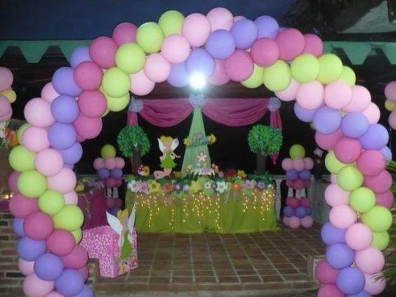 Decoraciones con telas para fiestas con globos - Decoraciones con globos ...