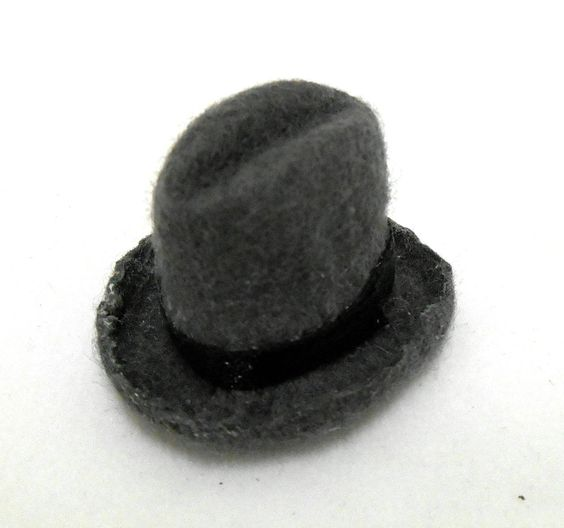 Dolls House Miniature 1:12 Scale Accessory Hand Made Gentlemans Trilby Hat