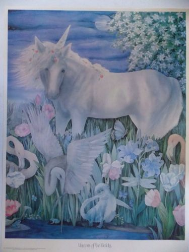 Vintage-Poster-1979-Unicorn-of-the-Fields-Pub-by-Pomegranate-Orig-by-Jay-Burch
