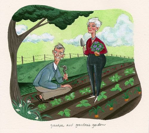 I love grandpa's garden and grandma will cook or can it all