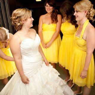 Gray and yellow wedding, Maggie sottero Jenna dress
