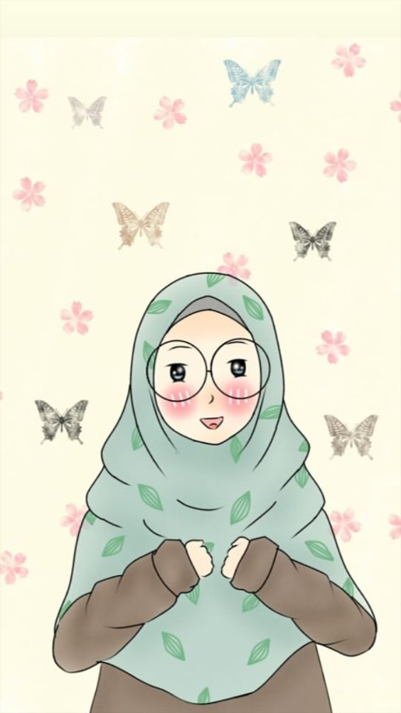 Kartun Muslimah hijab sahabat yang selalu ada