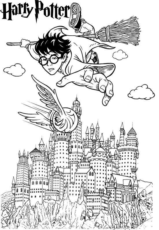 Hogwarts Castle Coloring Pages : hogwarts, castle, coloring, pages, Harry, Potter, Hogwarts, Castle, Coloring, Pages,, Book,, Colors