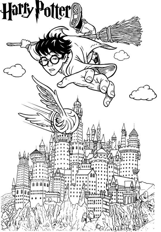 Harry Potter Hogwarts Castle Coloring Page Harry Potter Coloring