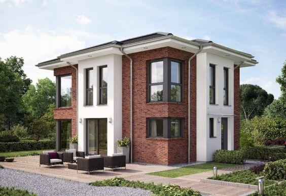 Fassadengestaltung einfamilienhaus weiß  Hausbau Einfamilienhaus Evolution 122 V14_Bien Zenker - moderne ...