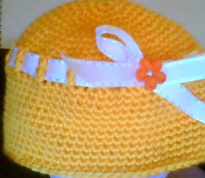 bow hat-orange
