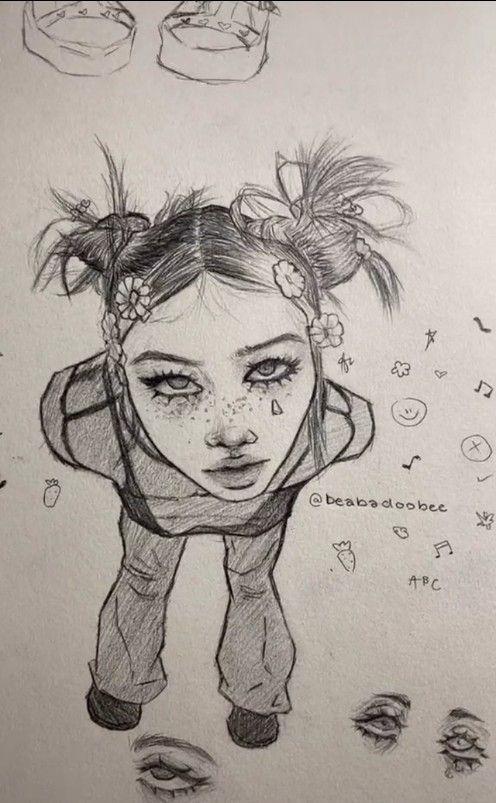 Tiktok Drawing Dai Lev On Tiktok Hippie Art Indie Drawings Cartoon Art Styles