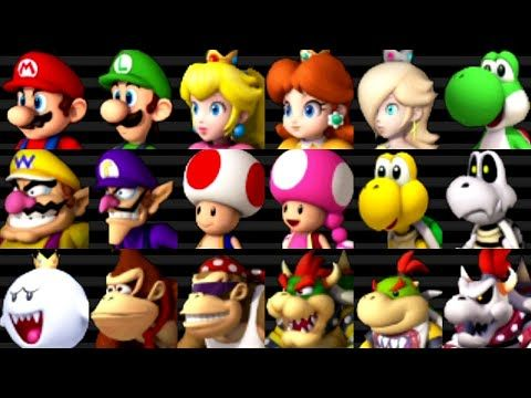 Mario Kart Wii All Characters Youtube Mario Kart Wii Mario Kart Mario