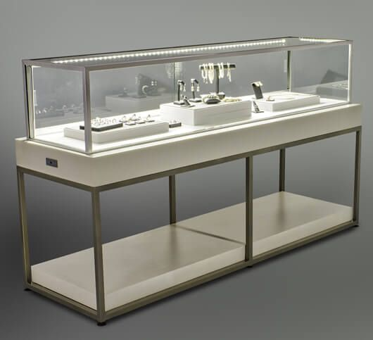 Stainless Steel Jewellery Table Glass Top Jewelry Display Table Jewelry Store Displays Jewelry Table Display Retail Jewelry Display