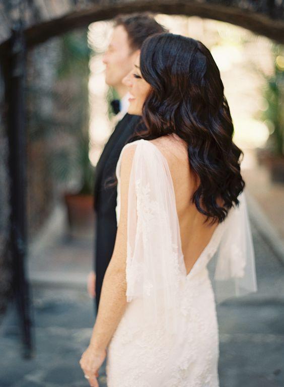 Romantic Backless wedding dress