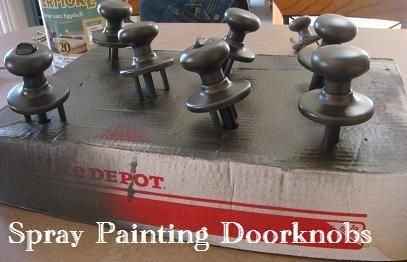 como pintar pomos de puertas