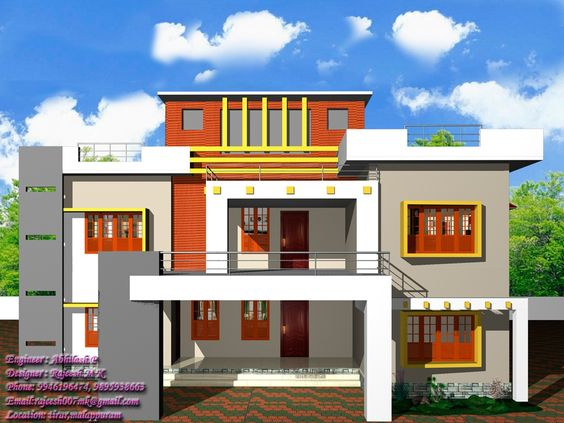 Awesome simple exterior house designs in kerala image   Ideas     Awesome simple exterior house designs in kerala image