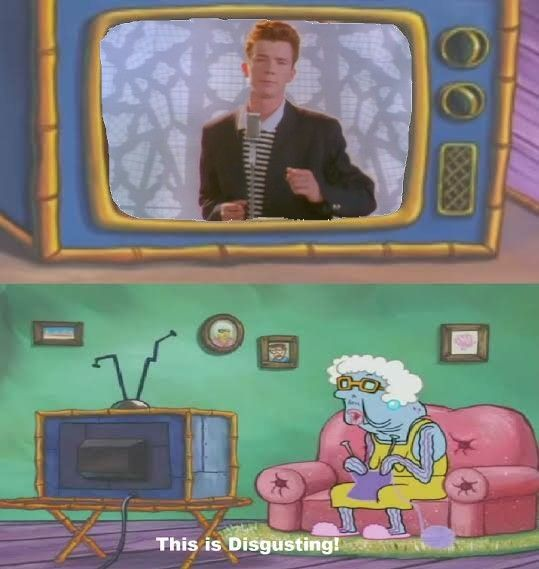 The Chestburster Watching Never Gonna Give You Up