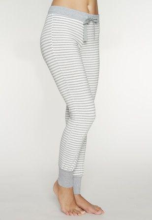 Skiny - Sleep & Dream - Lange Hose - Ivory Stripe