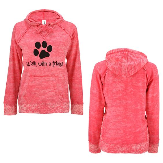 Walk With A Friend Dyed Hooded Sweatshirt at The Animal Rescue Site
