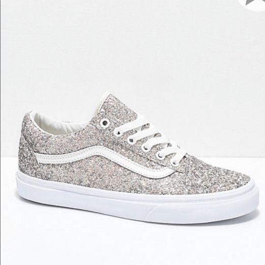 Vans Shoes   Vans- Lowtop Glitter Gold