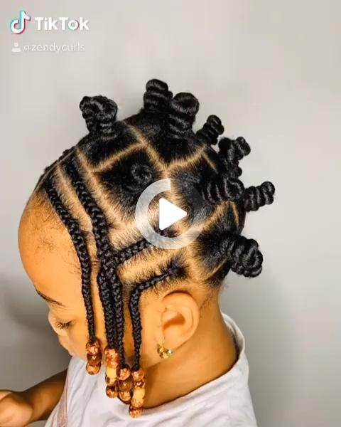 Bantuknots Natural Hairstyles For Kids Natural Hair Styles Easy Little Girl Hairstyles