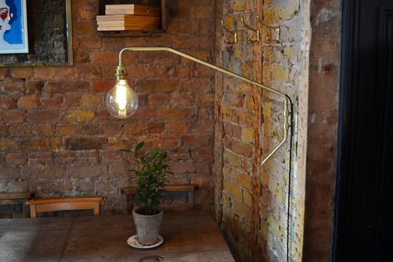 Satin Brass Pencher Wall Light | Wall Lights | Bespoke Lighting - Copper and Silk