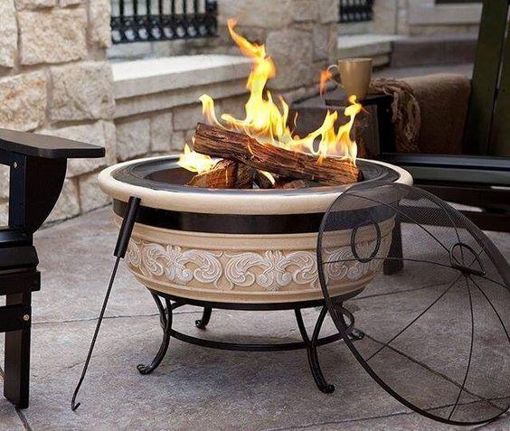 Fireplace in the garden - www.amazon.com