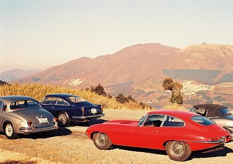 JAGUAR E-TYPE,Mk-2,ASTON in HAKONE