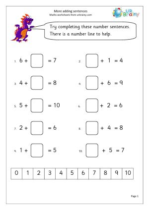 Worksheets for grade 1, Math worksheets and Grade 1 on Pinterest