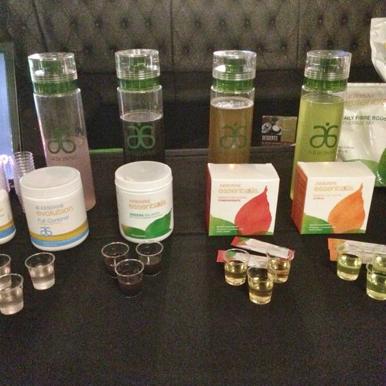 Tasting station for Essentials and Evolution range -www.lesliebragunier.arbonne.com * leslie.bragunier@gmail.com