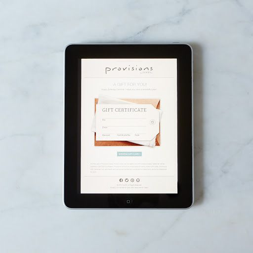 e-Gift Cards on Provisions by Food52