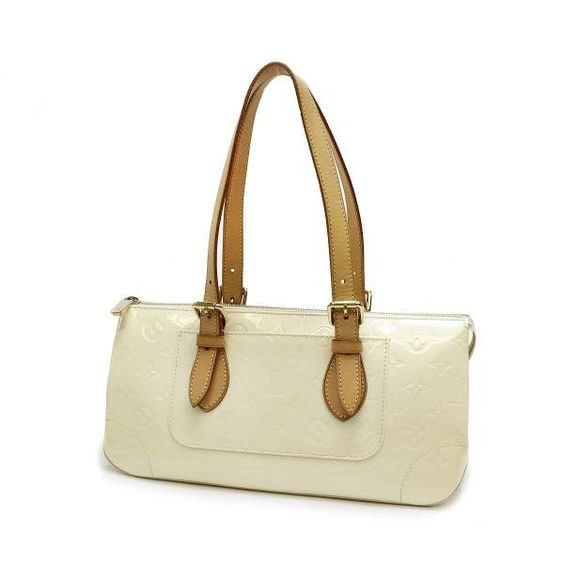 Louis Vuitton Rosewood Avenue  Monogram Vernis Shoulder bags White Patent Leather M93508