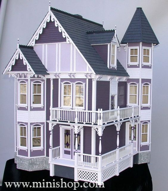 Victorian dollhouse dollhouses and victorian on pinterest for Victorian style kit homes