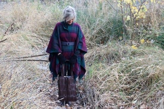 Upcycled Wool Blanket into a coat