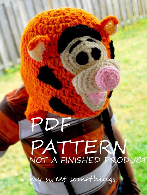 Tiger Hat Pattern - Crochet Tutorial | Tutoriales para ganchillo ...