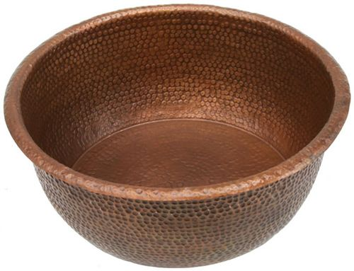 Spa Bowl Ped20 Large Foot Soak Hammered Copper