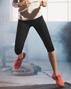W5009 Ladies' Capri Legging technology provides lasting recovery and a great fit Features a gusset