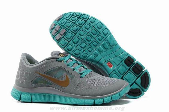 Nike Free 3 Homme gris vert