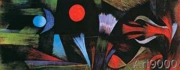 Paul Klee - Landschaft bei Vollmond