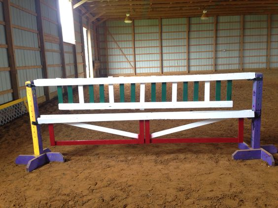 Two gates I made for the farm. Hunter style horse jumps, horse jumps, hunter horse, gate jump, picket jump, homemade horse jump