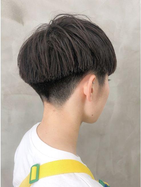 黒髪 刈り上げベリーショート女子スタイル 徳竹 L035383857 サン Sun のヘアカタログ ホットペッパービューティー ヘアスタイル ヘアカット ベリーショート 刈り上げ