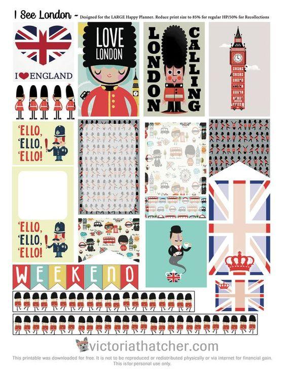 Free London Planner Stickers | Victoria Thatcher