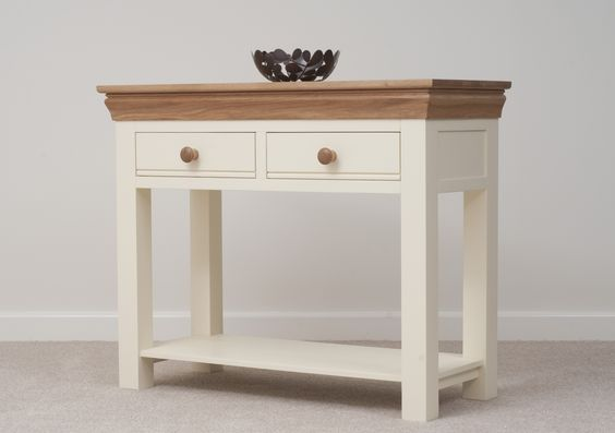 Country Cottage Painted Funiture Hallway | Cream Console Table Oak  Furniture Land Www.oakfurnitureland.