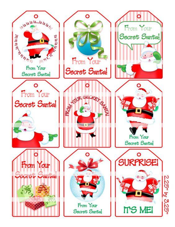 Secret santa gifts, Secret santa and Gift tags on Pinterest