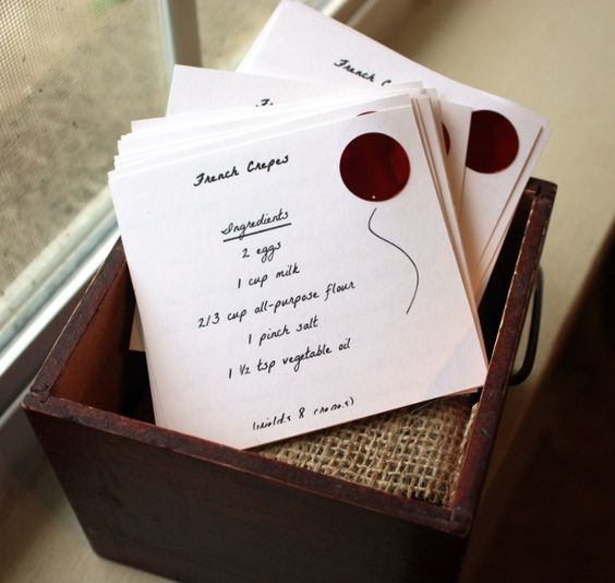 Bring your favorite recipe as a guest sign in for a Wedding Reception. What a…
