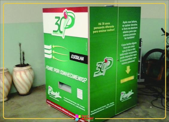 Adesivos em Máquina de Livros - Campos Novos-SC  Criação - 10ign Publicidade