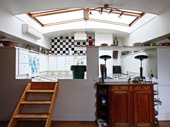 peniche mezzanine and cuisines on pinterest. Black Bedroom Furniture Sets. Home Design Ideas
