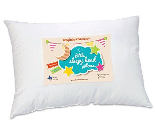 Little Sleepy Head Toddler Pillow, White, 13 X 18 in 2020