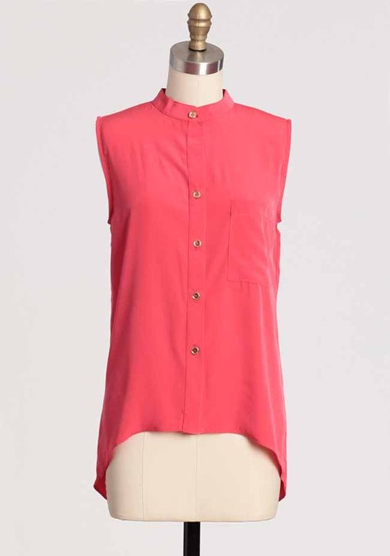 Coral Expedition Button Up Top