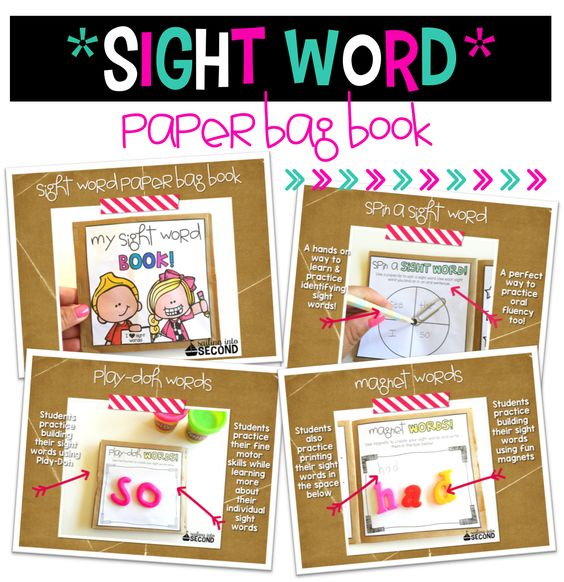 This Sight Word Paper Bag Book includes various hands-on ways to help your students practice their sight words! Each engaging activity is versatile, so you can use your own sight word list!