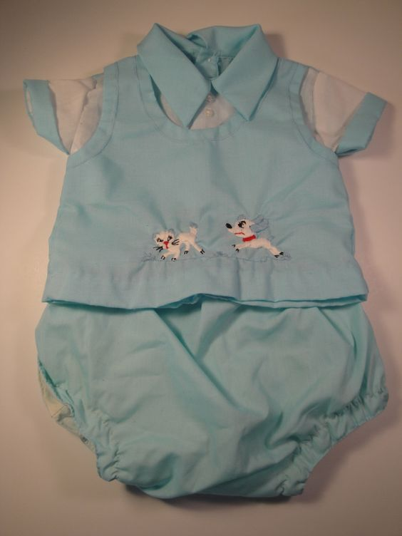 A personal favorite from my Etsy shop https://www.etsy.com/listing/186951822/vintage-1970s-baby-boy-outfit-0-3-6